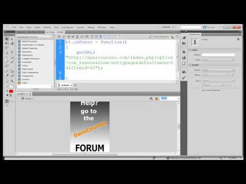 Flash CS5 Beginner - Create a Banner Ad - Part 4