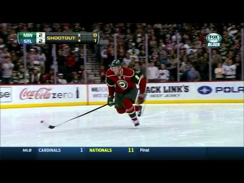 Full shootout 3-2 St. Louis Blues vs Minnesota Wild 3/9/14 NHL Hockey.