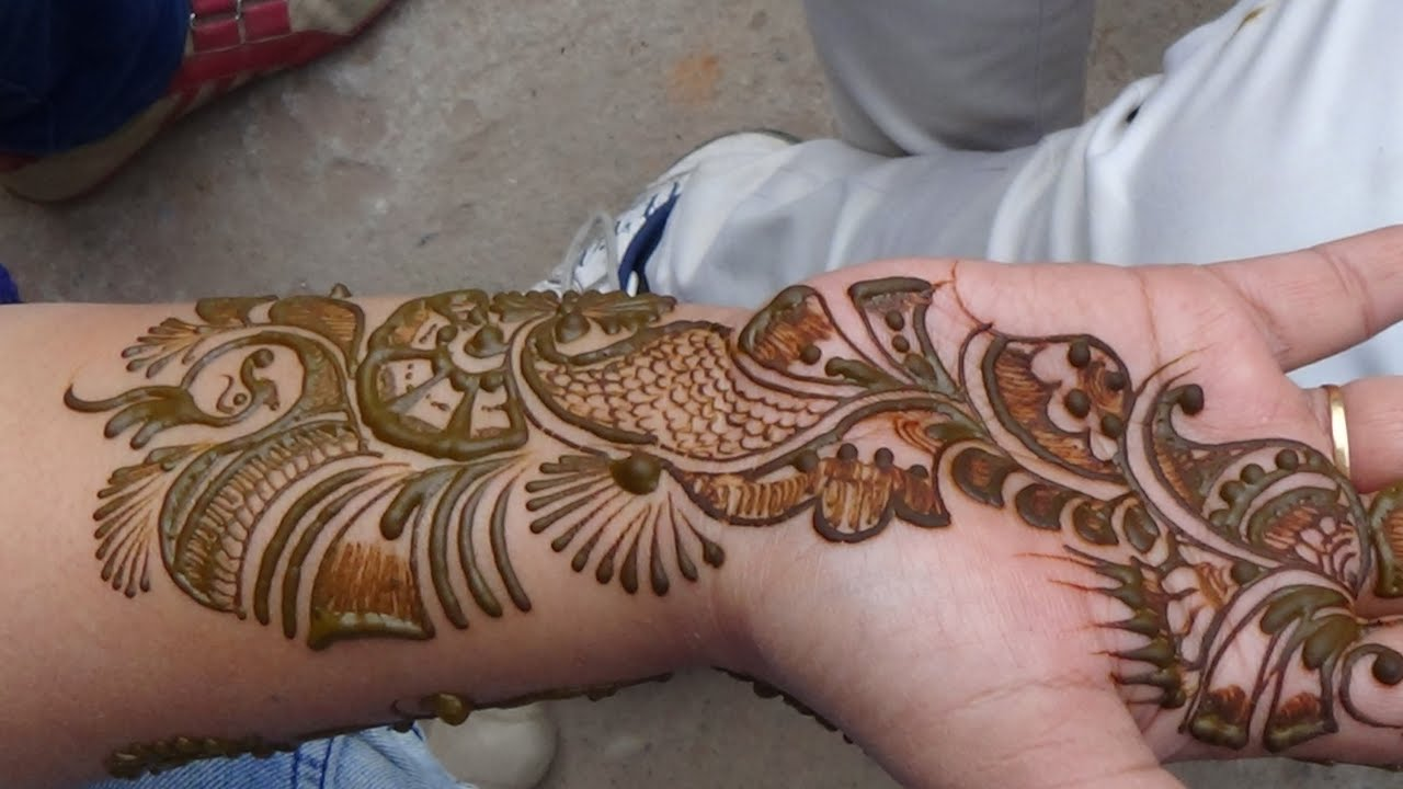 Unique And Easy Mehndi Designs : Full arabic unique easy mehndi pattern best henna