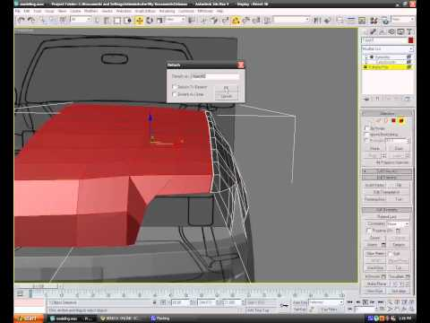 Modeling a car in 3ds max - Episode 6 - Front Hood And Wings