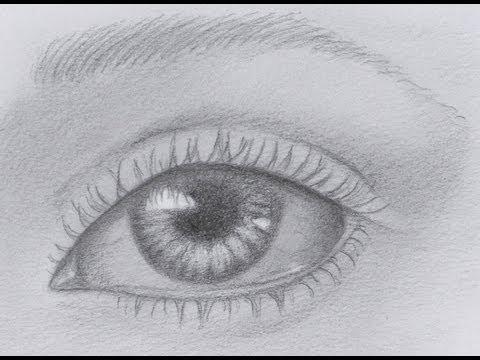 Aprender a dibujar: cómo dibujar un ojo realista - Arte