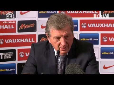 Roy Hodgson faces the press after securing World Cup qualification with England
