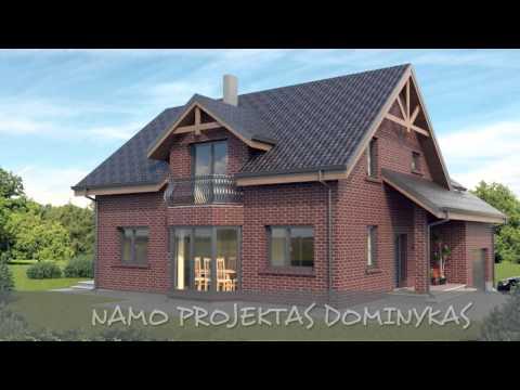 Vieno aukšto su mansarda namo projektas Dominykas | NPS projektai - namų projektavimas, statyba