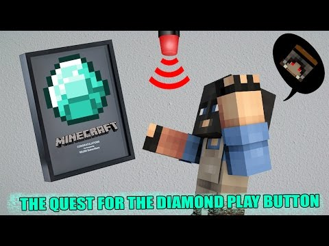 Minecraft : THE QUEST FOR THE DIAMOND PLAY BUTTON ภารกิจขโมยโล่เพชร Minetube