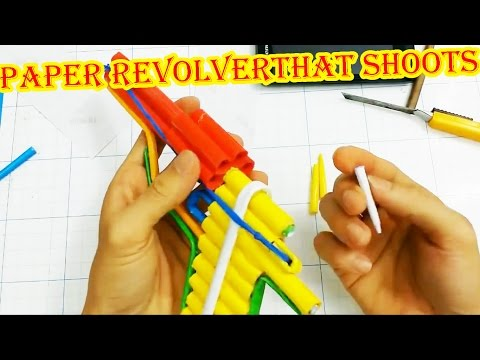 How to make a Paper Revolver that Shoots | 6 Paper Bullet (Paper Gun)