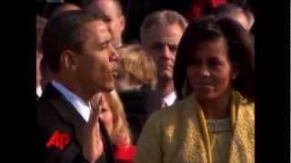 Barack Obama But NO Bible Sworn In 2nd Time Correctly