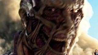 Attack on Titan Live Action Movie Teaser Ad -- Parody & Impression -- Colossus Titan Real Life?!