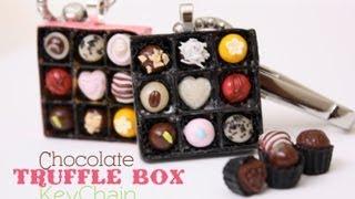 Chocolate Truffle Box KeyChain How To Make Polymer