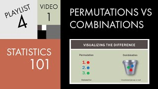 Statistics 101: Permutations vs. Combinations