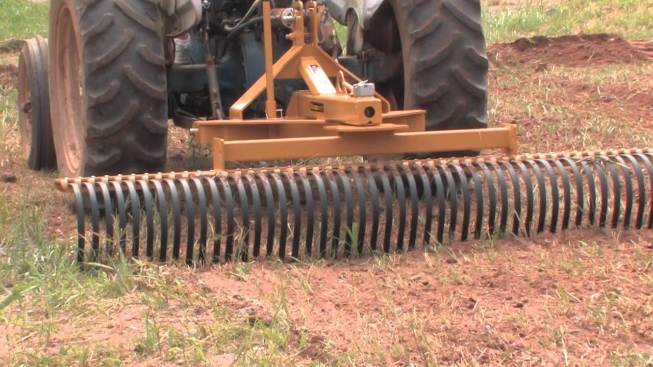 Landscape Root Rake : How to use a landscape rake part