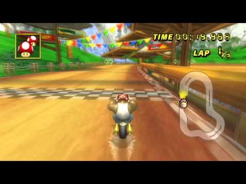 [MKWii] 1:00.382 Yoshi Falls by  G. W/ Bowser Bike