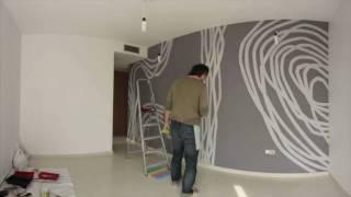 Como se logra una obra de arte en pared