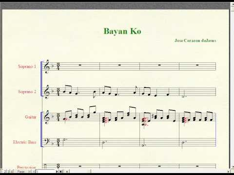 Video Bayan Ko-Philippine Patriotic Song (Music Notation)