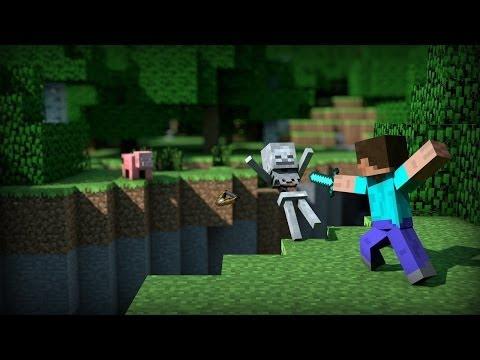 Menina jogando Minecraft (Live)