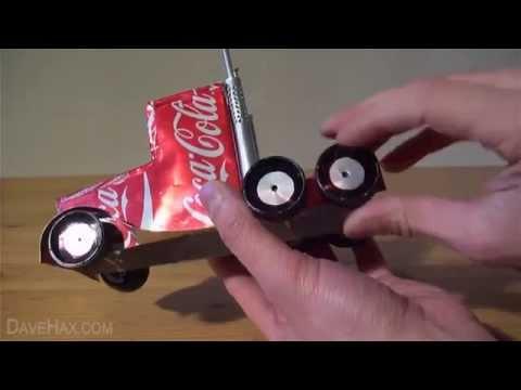 cách làm xe congtinơ từ vỏ lon