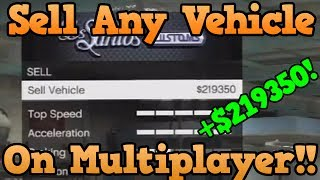 *NEW* GTA 5 Online Glitch: Sell ANY Car To Los Santos Customs [Sell Cars Worth Over 50k] [10m/Hour]