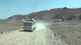 Driving to Aksum, Ethiopia