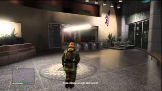 GTA V Gameplay - Heist: Firefighter Mission - Burning Building