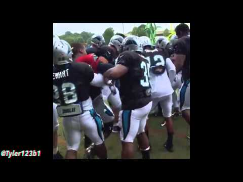 (Full Video) Cam Newton  training camp fight with Josh Norman  Crazy!! Two camera views