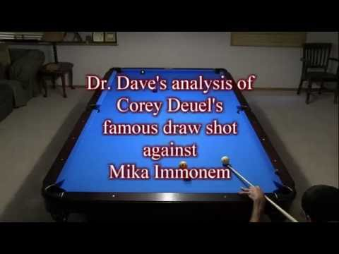 Corey Deuel's famous draw shot analyzed by Dr. Dave