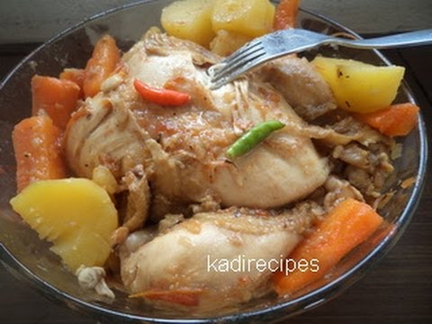 Boiled Chicken Recipe - YouTube