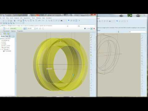 Tutorial Pro-E Rulment radial cu bile pe un rand (bearing)