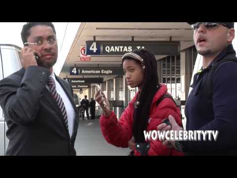 Willow Smith spotted arriving at LAX Airport
