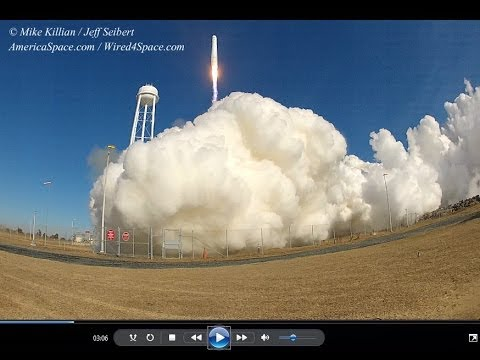 Antares Launches Cygnus On First Space Station Resupply Mission LAUNCH PAD VIEW