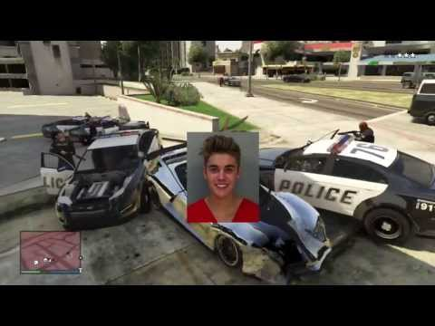 Justin Bieber Arrested 2014 Full Video of Drag Race while Intoxicated & Arrest Video (GTA 5 Edition)