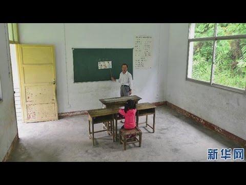Ngôi trường chỉ có 1 giáo viên và 1 học sinh