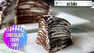 No Bake Crepe Cake - Chocolate Flavor