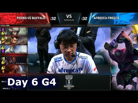 PVB vs AFS   Day 6 Group A Decider S8 LoL Worlds 2018   Phong Vũ Buffalo vs Afreeca Freecs