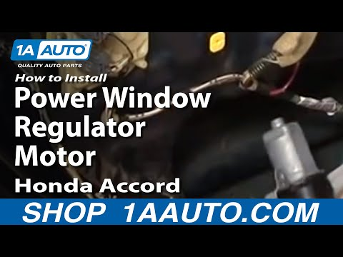 How To Install Repair Replace Rear Power Window Regulator Motor Honda Accord 98-02 1AAuto.com