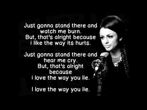 gallery for love the way you lie lyrics eminem