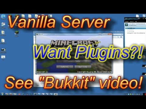 How To Setup a Minecraft Server Any Version 1.7.5 1.6.4 Hamachi Tutorial No Port Forwarding 1.5.2