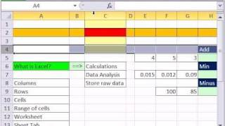 Excel Finance Class 01: Intro To Excel 2007 & 2010