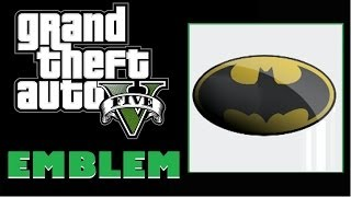 Grand Theft Auto 5 / GTA 5 Batman Logo Emblem Tutorial