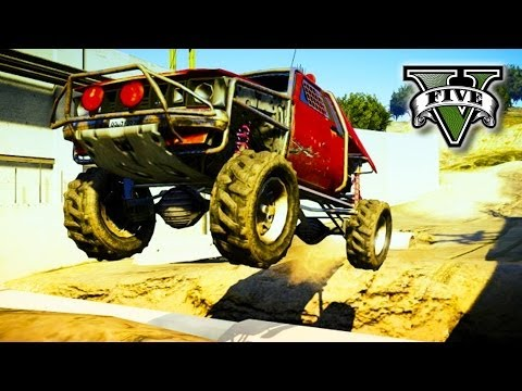 GTA 5 OFF-ROADING - Awesome Jumps & Crashes - Grand Theft Auto V