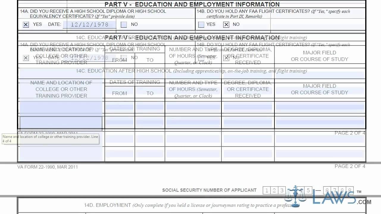 Learn How To Fill The VA Form 22 1990 Request For A