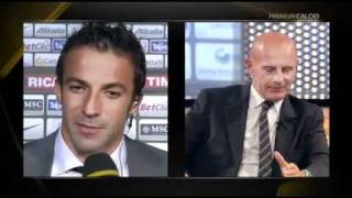 23/09/2010 - Campionato - Juventus-Palermo 1-3, intervista a Del Piero