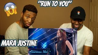 """Mara Justine Sings """"Run To You"""" by Whitney Houston - Top 24 Solos - American Idol 2018 (REACTION)"""