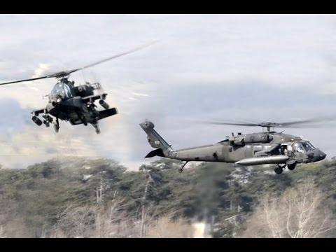 AH-64 Apache and UH-60 Blackhawk in Várpalota Challenge 2014