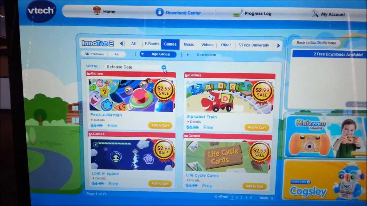 Vtech Innotab Games Free