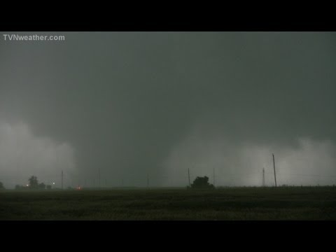 Birth of the 2.6-mile wide EF-5 tornado near El Reno, Oklahoma: May 31, 2013