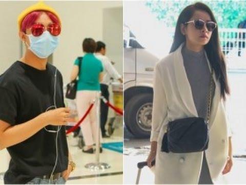 """tin tuc sao viet_Sơn Tùng MTP,,,,,,,,,,,,, diện trang phục """"lạ"""" xuất hiện ở sân bay với Chi Pu"""