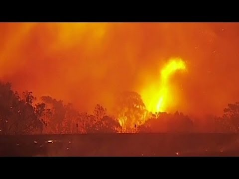 Bushfires raging in Australia