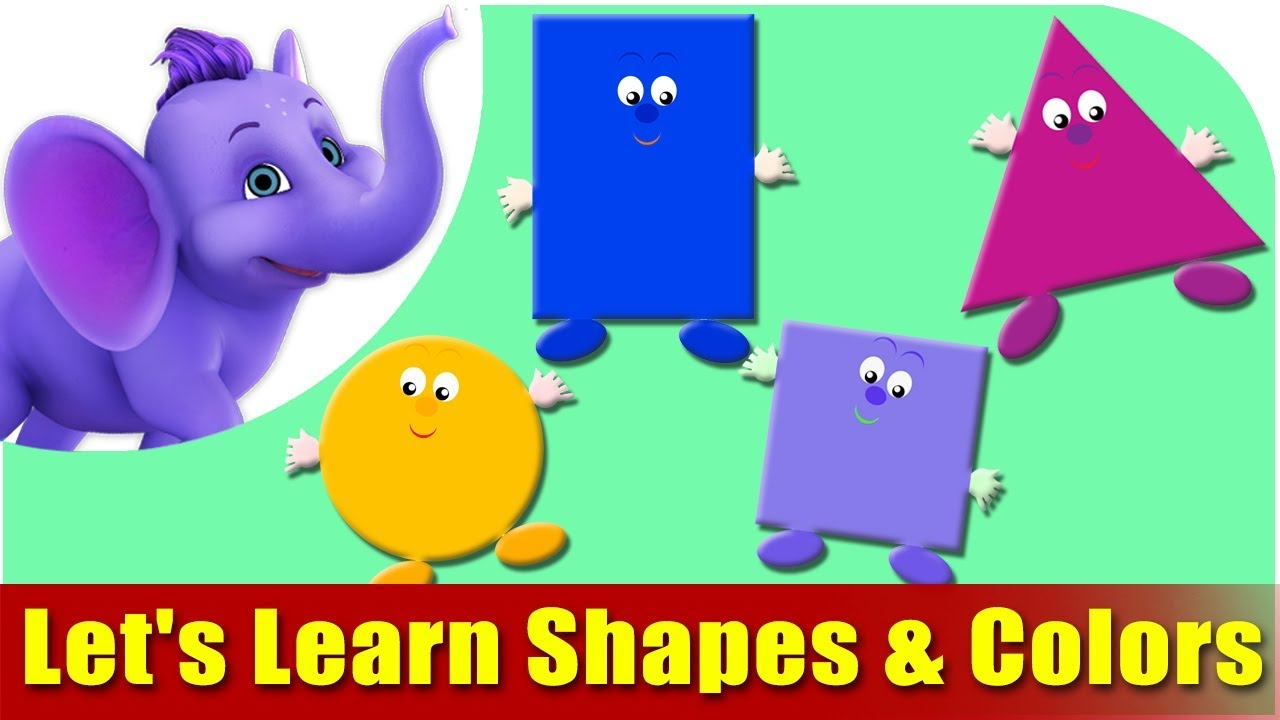 Let's Learn Shapes & Colors - Preschool Learning