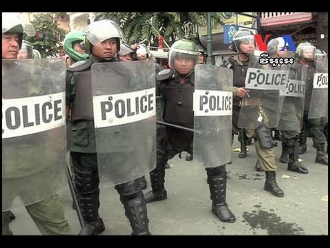 Protesters Clash With Police As Tension Rises Over Cambodia Election