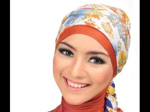 Cara Memakai Jilbab Segi Empat untuk Wajah Bulat cara memakai jilbab segi empat paris modern simple