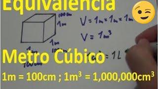 Metro cúbico. Equivalencia